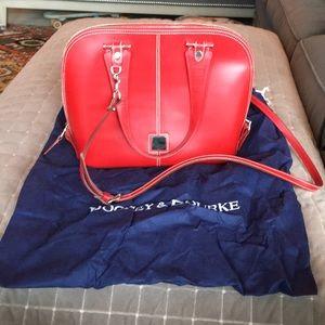 Hardly used Dooney & Bourke red zip satchel bag